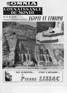 EGYPTE ETHIOPIE -AFRIQUE-CONNAISSANCE DU MONDE JACQUES CORNET-CINEMA OMNIA- TAHITI PECHE A MOOREA-CHEGARAY - Programmi