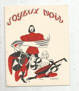 Carte De Voeux , 4 Pages , 11 X 14 , Vierge , Illustrateur , Signée - Noël
