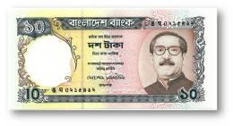 BANGLADESH - 10 Taka - ND ( 1997 ) - Pick 33 - Unc. - Mujibur Rahman - 2 Scans - Bangladesh