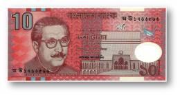 BANGLADESH - 10 Taka - 2000 - Pick 35 - Unc. - Polymer Plastic - 2 Scans - Bangladesh