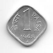 India 1 Paisa 1968 B  Km 10.1  Unc Catalog Val 5,00$ - Inde