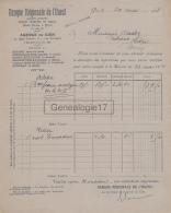 45 343 GIEN LOIRET 1928 BANQUE REGIONAL DE L OUEST Quai Lenoir Et Rue Dombasle BRIARE BONNY ARGENT SAULDRE VAILLY - Banque & Assurance