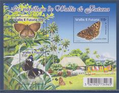 = Bloc Les Papillons De Wallis Et Futuna 3 Timbres Neufs - Papillons