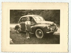 4 Cv Renault - Photo 10,5 X 8 De 1956 - Automobiles