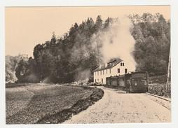 REPRODUCTION TRAIN VOIR DOS 38 Train Locomotive Vapeur Pour Grenoble Entre Uriage Et Gières Avant 1900 - Uriage