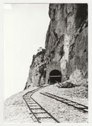 REPRODUCTION TRAIN VOIR DOS 74 Construction Tunnel Du Pas De L'Echelle Château De Monnetier En 1893 - Sixt-Fer-à-Cheval