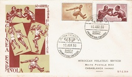 SPAIN  #GUINEA  FDC FROM 1958 STAMPWORLD 441 + 443 - Spaans-Guinea