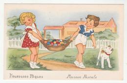Illustrateur: J. Idrac - Heureuses Pâques - Moisson Pascale - Enfants, Chien - édition Univers, 107 - Autres Illustrateurs