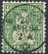 Stamp Switzerland 1862-64 40c  Used Lot#96 - Oblitérés