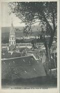 23, Creuse, GUERET, Un Coin De La Ville Et L'Eglise, Scan Recto-Verso - Guéret