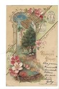 16139 - Joyeuses Pâques Cloches Et Oeufs Dorés Carte En Relief - Pâques
