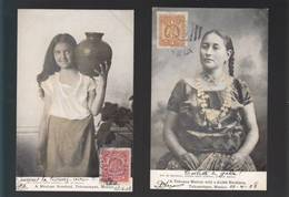 Mexique - Lot De 2 Cartes - Mexico - A Mexican Rosebud Tehuantepec, A Tehuana Matron Wich A Necklace - Messico