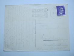 DANZIG ,  1943 , Zoppot - Kuraufenthalt, Maschinenstempel  , Reine Bedarfskarte Mit Ansicht - Danzig