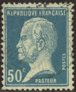 France Yv. N°176 - 50c Bleu Pasteur - Oblitéré - 1922-26 Pasteur