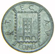 [NC] GETTONE TOKEN TRASPORTO TRAM COMO 1944 20 CENTESIMI STECAV - Monetary/Of Necessity
