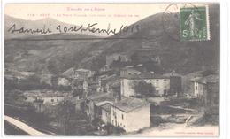 FR11 AXAT - Labouche 114 - Le Vieux Village Vue Prise Du Chemin De Fer - Belle - Axat