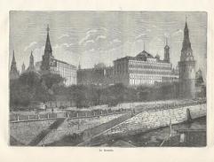 GRAVURE De 1883... RUSSIE..Le KREMLIN - Estampes & Gravures