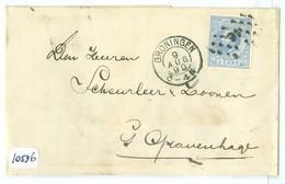 BRIEFOMSLAG * NVPH 19 * 5 Ct WILLEM III * Enkelfrankering Op Brief 1890 Van GRONINGEN Naar 's-GRAVENHAGE (10.536) - Periode 1852-1890 (Willem III)