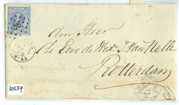 HANDGESCHREVEN BRIEF * NVPH 19 * 5 Ct WILLEM III * Enkelfrankering Op Brief 1871 Van TILBURG Naar ROTTERDAM  (10.539) - Brieven En Documenten