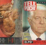 Télé-Poche N° 058 Février 1967 Jean Gabin; Jean Ferrat; Roman-photos Monsieur Passe-Partout; Vidocq; Les Captifs - Kino/Fernsehen