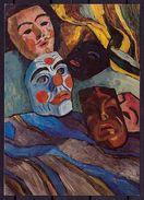 "(573) GABRIELE MÜNTER "" Masken 1940 "" (C-1) - Paintings"