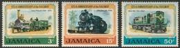 Jamaica 1970 Mi 326 /8 YT 334 /6 Sc 324 /6 ** 125th Ann. Jamaican Railways / Eisenbahn Auf Jamaika - Locomotives - Treinen