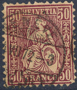 Stamp Switzerland 1867-78 50c  Used Lot#5 - 1862-1881 Helvetia Assise (dentelés)