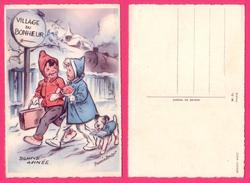 CARTE POSTALE ILLUSTRATEUR - GERMAINE BOURET -   BONNE ANNÉE - VILLAGE DU BONHEUR - Bouret, Germaine
