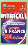 INTERCALL N°376 *** 3F *** Tirage 75300ex *** Code Non Gratte *** (A104-P10) - Prepaid Cards: Other