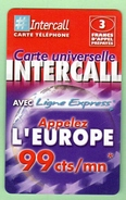 INTERCALL N°374 *** 3F *** Tirage 75300ex *** Code Non Gratte *** (A104-P11) - Prepaid Cards: Other