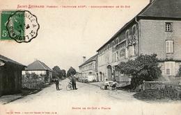 (3010) CPA  Saint Leonard Route De St Die  A Fraize   (bon Etat) - Autres Communes