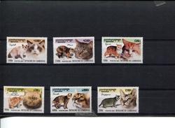 418467319 DB 2001 CAMBODIA POSTFRIS MINT NEVER HINGED EINWANDFREI  SCOTT 2121 2122 2123 2124 2125 2126 KATTEN CATS - Cambodge
