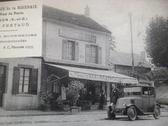 CPA 95 Val D'Oise Ecouen Hôtellerie De La Roseraie J.Fertaud Café Restaurant Auto - Ecouen
