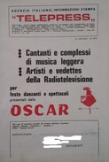 Catalogo Telepress: D. Ghezzi, O. Berti, C. Caselli, G. Cinquetti, B. Curtis, Dalila, W. De Angelis, W. Goich, Ecc. - Musica & Strumenti