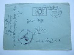 DANZIG ,  1943 , Danzig - Langfuhr,  Stempel Auf Feldpostbrief Mit Truppensiegel, Mit Inhalt - Danzig