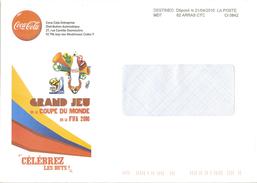 Destineo MD7 62 Arras CTC Sur Enveloppe Illustrée Coca Cola Coupe Du Monde Fifa 2010
