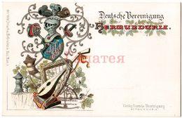 DEUTSCHLAND GERMANY UDB 1900s HERMUNDURIA HERALDIC POSTCARD Ab388 - Leipzig