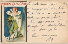 Partridge, Sir Bernard, 1899 Cinos No. 18, Madame Sans-Géne, Old Postcard - Künstlerkarten