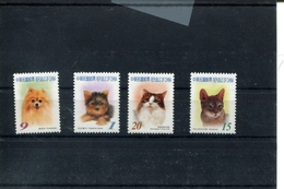 418470949 DB 2005 REP OF CHINA - TAIWAN  POSTFRIS MINT NEVER HINGED EINWANDFREI SCOTT 3685 3688 CATS DOGS KATTEN HONDEN - 1945-... République De Chine