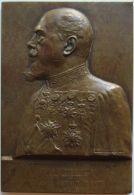 M05164  COLONEL OSWALD ALLARD -  FEDERATION ROYALE DES OFFICIERS DE LA GARDE CIVIQUE - 1911 - Son Buste (118g) - Professionnels / De Société