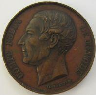 M01979  COMTE FELIX DE MERODE - MEMBRE DE LA CHAMBRE DES REPRESENTANTS - 1857 - Son Profil  (74g) Blason Au Revers - Royal / Of Nobility