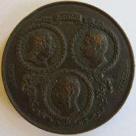 M01975  METASTASIO -  VISCONTIO - PINELLIO - ROMA - 1840 - Leurs Profils (62g) Poesi Doctrina Antiquitatis... Au Revers - Professionali/Di Società