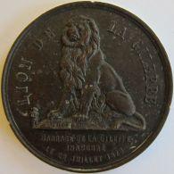 M01970 SOCIETE ROYALE LE ERCLE WEBER ST JOSSE TEN NOODE - EXCURSION AU BARRAGE DE LA GILEPPE - 1878 (54g) Lion Au Revers - Professionals / Firms