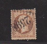 N 23 / 40 Centimes Orange  / Oblitération N 2598 Nancy - 1862 Napoleon III
