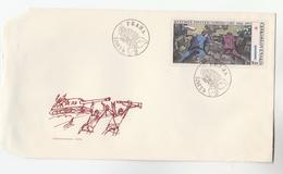 1975 CZECHOSLOVAKIA FDC Art  WWII 1945 UPRISING Stamps Cover - WW2