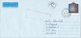 Cayman Islands 1990 Georgetown Marine Life Underfranked 10c Aerogramme Taxed - Kaaiman Eilanden