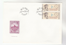 1992 CZECHOSLOVAKIA FDC  Franked 2x 2k STAMP DAY Stamps , Cover - FDC
