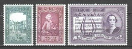 Belgium 1956 Mi 1036-1038 MNH MOZART (B) - Muziek