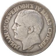 Serbie, Milan I, 5 Dinara, 1879, TB+, Argent, KM:12 - Serbie