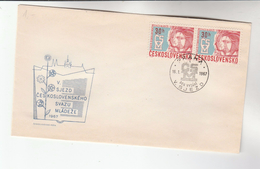 1967 CZECHOSLOVAKIA FDC  Franked 2x YOUTH  Stamps , Cover - FDC